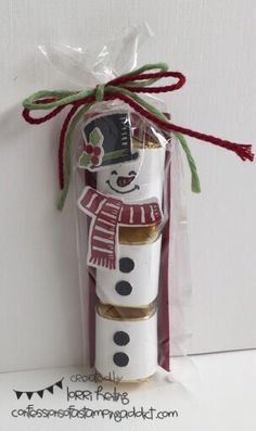 Nugget Snowman :: Confessions of a Stamping Addict Lorri Heiling Stampin' Up