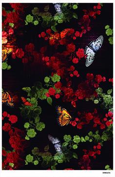 Estampa Borboletas- Desenvolvimento Cecília Isabel (Love the rich color here).