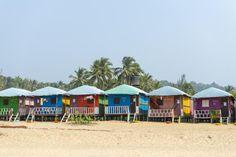 Essential Guide to Visiting Agonda Beach in Goa: Huts on Agonda Beach, Goa.