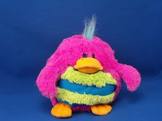 New product '2006 Jay at Play MUSHABELLY Quacks Purple Duck SOUND' added to Dirty Butter Plush Animal Shoppe! - $4.00 - 2006 Jay at Play Plush 6 inch Round Moshi Style MUSHABELLY QUACKS Purple Chenille Duck - Neon Green Hair Tuft - Orange V…