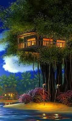 Descargar House on the tree by John Al Hogue 480 X 800 Wallpapers - 2429902 | mobile9