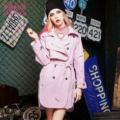 spring belted trench coat style
