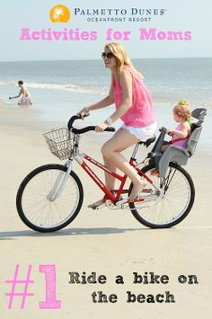 Ride a bike on the beach! Hilton Head Island #MothersDay