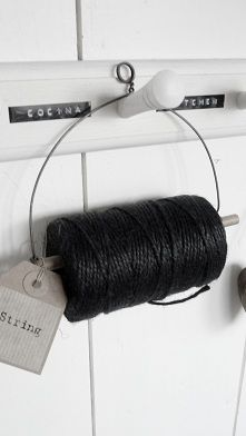 Such a simple way to store and use twine.