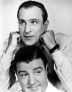 I'm not sure why this picture made me laugh so hard. But this is Abbott and Costello. The wonderful comedy team.