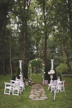 Intimate MI backyard ceremony.