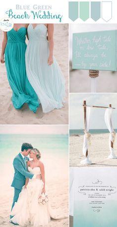 Blue Green Beach Wedding Inspiration - KnotsVilla