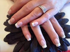 Acrylic nails with white French.  I like the classics!