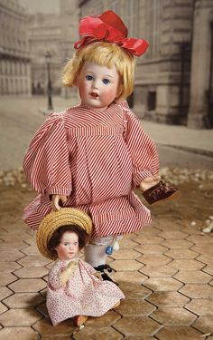 """Fascination"" - Sunday, January 8, 2017: 124 French Bisque Character Toddler, 251, by SFBJ with Original Wig and Costume"