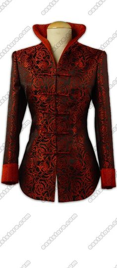 Fancy Roses Patterned Brocade Jacket : EastStore.com