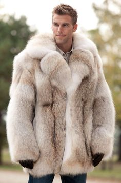 New 100% Genuine Real Fur Silver Fox Fur Vest Coat Men Winter With