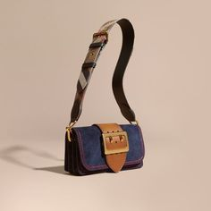 5ffc0a60e07f The Burberry Buckle Bag in English suede with topstitching. A small style  for the everyday