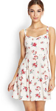 Forever 21 Smocked Floral Print Dress on shopstyle.com