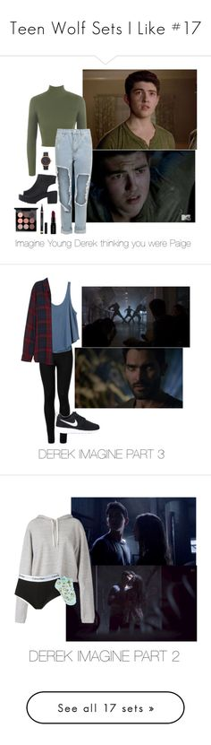 """Teen Wolf Sets I Like #17"" by nerdbucket ❤ liked on Polyvore featuring WearAll, MAC Cosmetics, Yves Saint Laurent, Smashbox, Marc Jacobs, living room, Wolford, RVCA, Rails and NIKE"