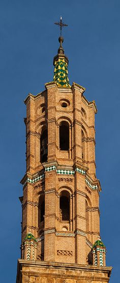 SPAIN / MUDÉJAR Style - Mudéjar style: a symbiosis of techniques and ways of understanding architecture resulting from Muslim and Christian cultures living side by side, emerged as an architectural style in the 12th century on the Iberian peninsula...Zaragoza Fuentes de Jiloca, Zaragoza,