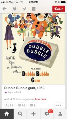 Remember when we went to the Dr's they gave us a piece of Double Bubble at the end of the visit!