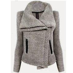 Chaqueta de las nuevas mujeres la moda otoño invierno espesar cremallera capa de la chaqueta da vuelta abajo de manga larga Outwear chaqueta Casaco Feminino en Chaquetas Básicas de Moda y Complementos Mujer en AliExpress.com | Alibaba Group