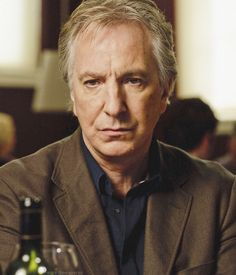 "Alan Rickman - still shot from the 2010 BBC production of ""Song of Lunch"""