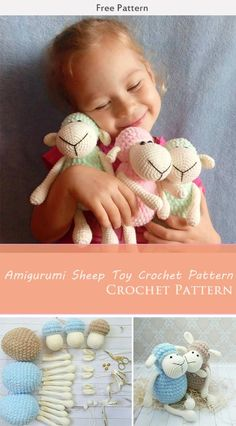 Amigurumi Sheep Toy Crochet Pattern Crochet Pattern This is an Amigurumi Sheep Toy Free Crochet Pattern. These sweet amigurumi sheep are created in the blink of an eye! The amigurumi pattern is super easy and fun to make. Perfect gift for children. Crochet Sheep, Easter Crochet, Cute Crochet, Crochet Crafts, Crochet Projects, Diy Crafts, Crochet Animal Patterns, Crochet Patterns Amigurumi, Crochet Dolls