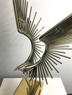 Vintage Curtis Jere Stahl Brutalist Adler Vogel Tisch von 20cModern