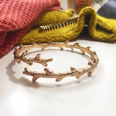 Branch Cuff Bracelet Details: • Gold plated • Nicely weighted but not heavy  • Can be adjusted • Brand new in velvet jewelry pouch • Measurements to come   07151514 Boutique Jewelry Bracelets
