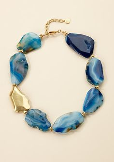 blue stone collar necklace by Carolee