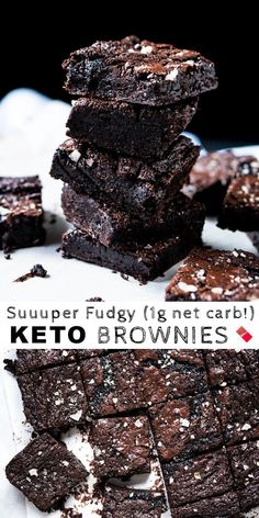 Suuuper Fudgy Gluten Free Paleo & Keto Brownies - Keto Brownies - Ideas of Keto Brownies - net carb! The ideal quick and easy low carb chocolate dessert! Low Carb Desserts, Easy Desserts, Low Carb Recipes, Dessert Recipes, Quick Keto Dessert, Holiday Desserts, Quick Chocolate Desserts, Stevia Desserts, Stevia Recipes