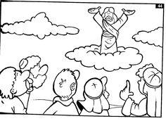 Secuencia de ilustraciones para colorear la muerte y resurrección de Jesús