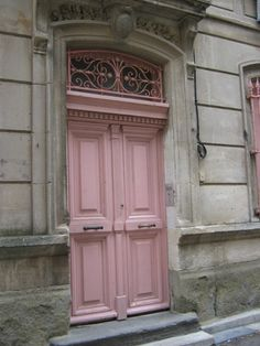 Pink door somewhere in France by Gmomma