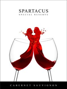 Spartacus Wine branding. Specifically designed for Chicago LGBT Community.