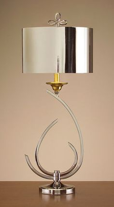John Richard 33 Stylized Chrome & Brass Lamp - contemporary - table lamps - charlotte - The Classy Cottage
