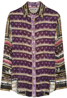 Balmain Printed silk shirt on shopstyle.com