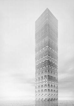 """The New Tower of Babel""-future Skyscraper for Germany- eVolo 2014 Skyscraper Competition Winners"