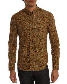 kenzo / confetti mustard shirt