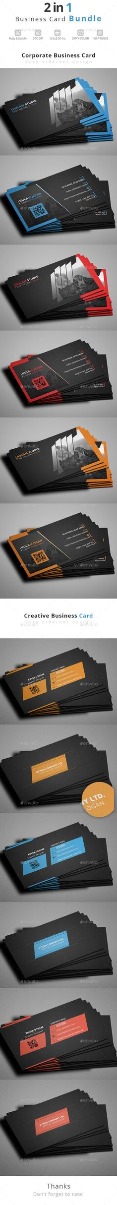Business Card Bundle Template PSD #design Download: http://graphicriver.net/item/business-card-bundle/14289368?ref=ksioks