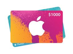 $1000 Itunes GC for Iphone, Ipad, Ipod, Macbook and Windows pc. Buy Movies, games, TV Shows, music or books