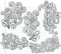 Notebook Doodles Vector Illustration ...