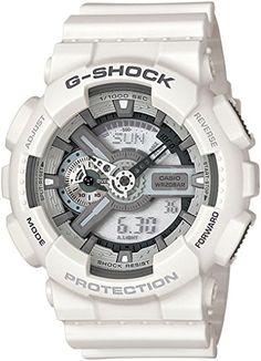 g-shock ga 110c 7aer: Montre pour Homme à mouvement Quartz - Bracelet en Résine Blanc Type d'affichage : Analogique - Digital Diamètre du…