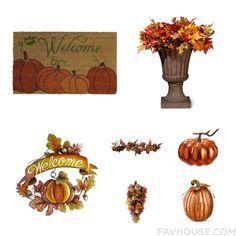 House Inspirations Including Outdoor Decor Autumn Berry Wreath Wall Art And Pumpkin Home Decor From November 2016 #home #decor