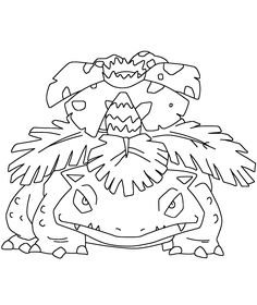 Pokemon Bisaflor 003 Lineart by WallpaperZero