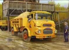 'Clydesdale Workhorse' by Paul Atchinson - An Albion Clydesdale four-wheeled tipper belonging to Hoveringham Gravels Antique Trucks, Vintage Trucks, Big Rig Trucks, Old Trucks, Old Lorries, Old Commercials, Road Transport, Truck Art, Train Car
