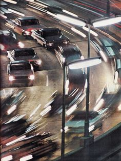 Fast cars on the road Street Photography, Landscape Photography, Panning Photography, Vintage Photography, Motion Blur Photography, Slow Shutter Speed Photography, Urbane Fotografie, Damien Chazelle, City Aesthetic