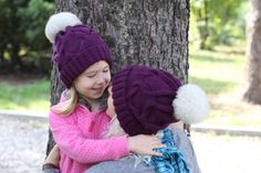 Real fur pompom hat knit winter hat large fox by BoutiqueDeHelene Knitted Hats, Crochet Hats, Pom Pom Hat, Fox Fur, Winter Hats, Boutique, Knitting, Trending Outfits, Unique Jewelry
