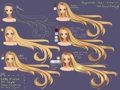 Step by step - rapunzel hair tutorial by saviroosje on deviantart cat eye t Painting Tutorial, Digital Art Tutorial, Manga Drawing, Digital Painting Tutorials, Manga Hair, Art, How To Draw Hair, Manga, Hair Painting