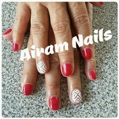 AiramNails#Uñaspropias#Rojo#Elegantes