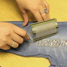 Distressed Ripped Destroyed Jeans or Shirt DIY Kit Tool Set at Amazon Women's Clothing store:
