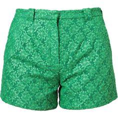 OSTWALD HELGASON ladies KHAKI shorts size 6 NEW rrp.£195 crochet flower.SMART
