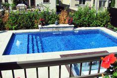 Splendide petite piscine creusée avec aménagement extérieure. #piscine #creusee #pool #summer