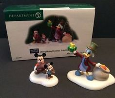 Dept 56 Disney Merry Mickey Christmas Cratchits Mouse Donald Scrooge Figurines