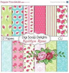 SALE 40 Off Today Shabby Chic Vintage Kaitlyn by DigiScrapDelights